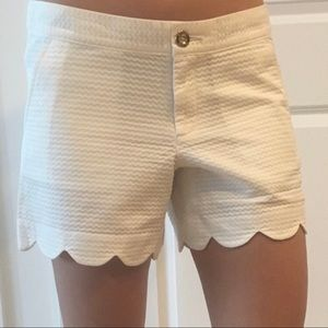Lilly Pulitzer Scallop Hem Shorts